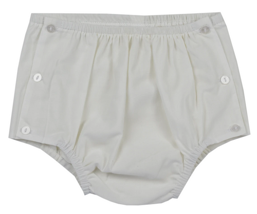 Darling Diaper Cover - White