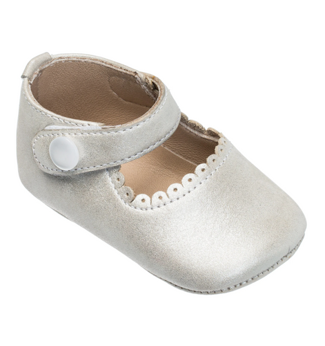 Baby Mary Janes in Talc