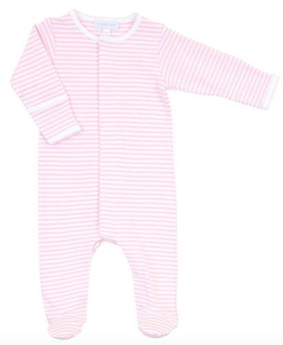 Pink Stripes Footie