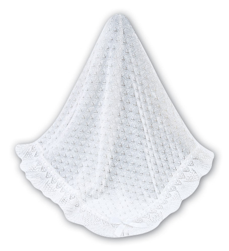 White w/ White Ribbon Blanket