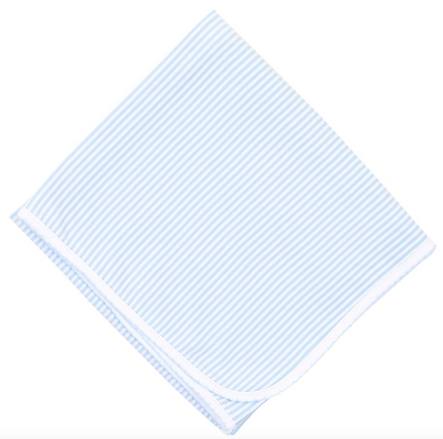 Blue Stripes Receiving Blanket