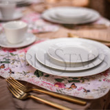 TableStar Table Runner - Victoria's Choice in Light Pink for 60 Inch (153 cm) Round Tables - Seats 8