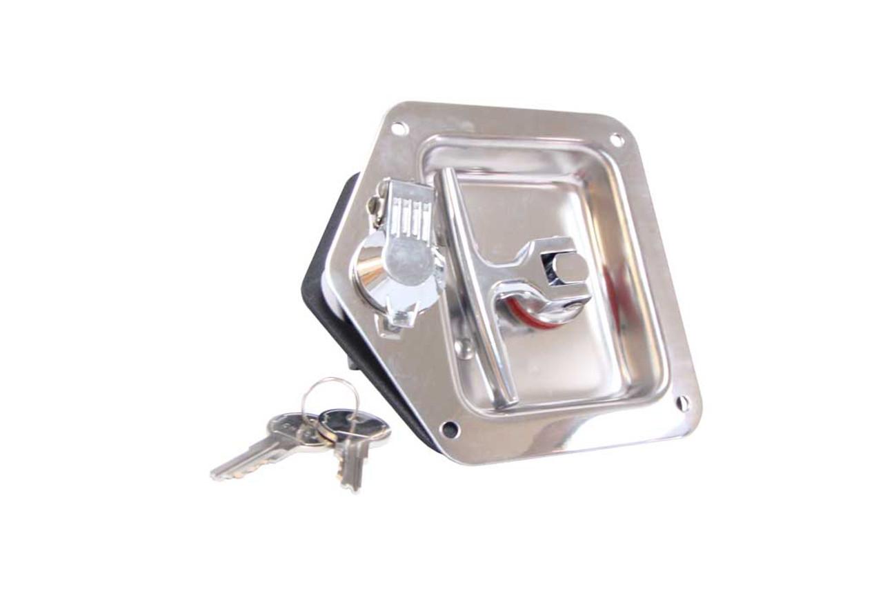 Latch, Rh,Ss, T-Lock W/Holes W/Keys