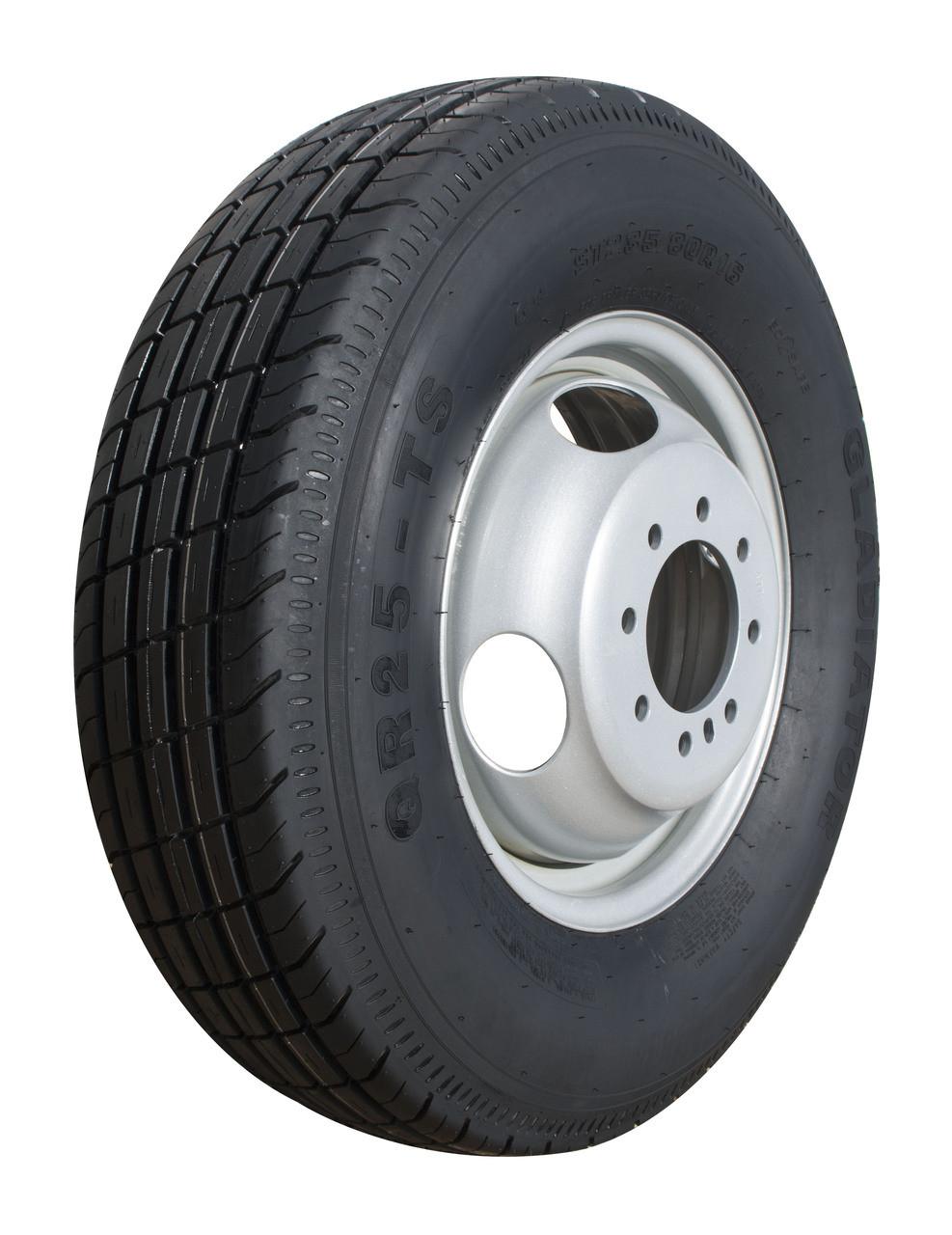 Tire Assy 235/80 R-16 Radial w/16 x 6 865 Dual S Offset 5 PILOT DIA. 4.77