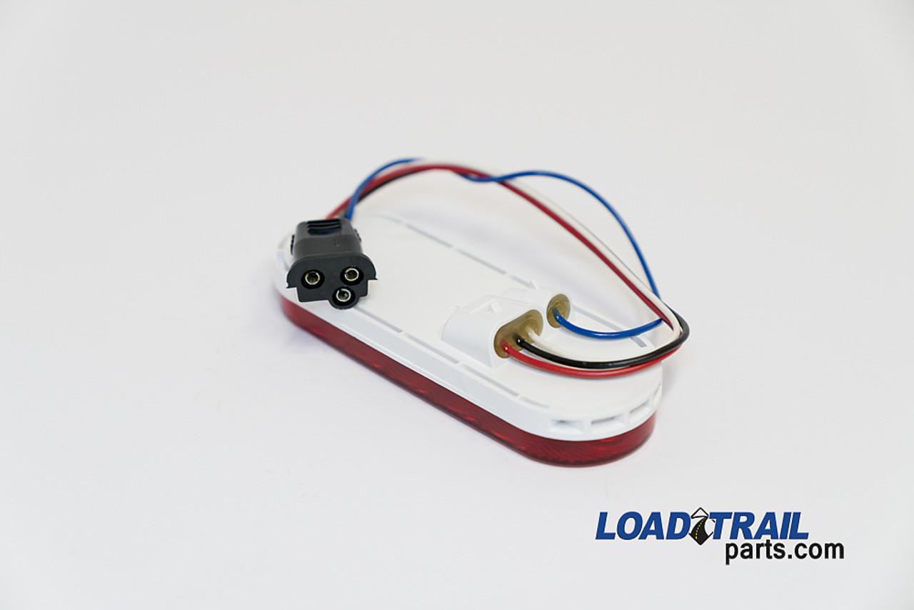"LED Integrated Back Up Light 6"" Oval (090181)"