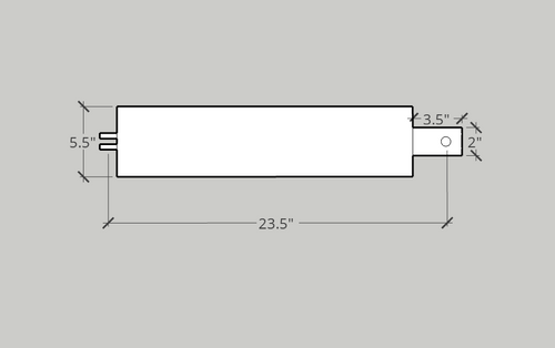 Cylinder, 5 X 15.75 X 2 Hydraulic