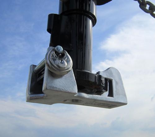 Blaylock E-Z Lock Gooseneck Coupler Lock with Padlock