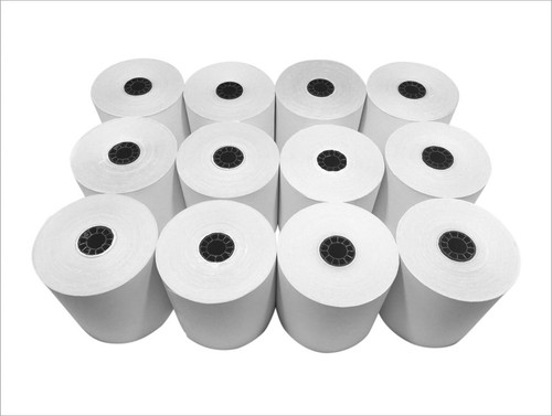 Single-Ply Clover Kitchen Printer Bond Paper (12 Rolls)