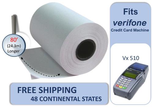 Vonlyst Receipt paper for Verifone Vx510 credit card machine 2-1-4-x-80 10 rolls