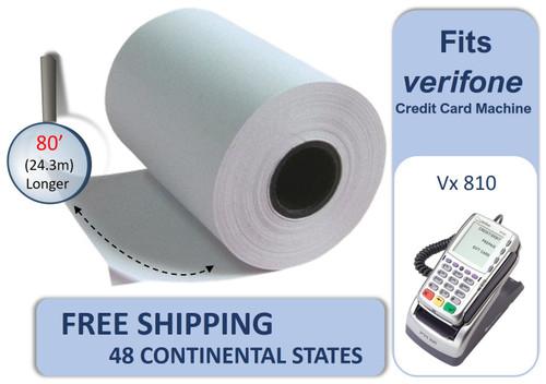 Vonlyst Receipt paper for Verifone Vx810 credit card machine 2-1-4-x-80 10 rolls