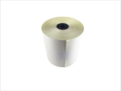 "2 ply Carbonless Paper Roll white/canary 3"" x 95' - Clover Kitchen Printer"