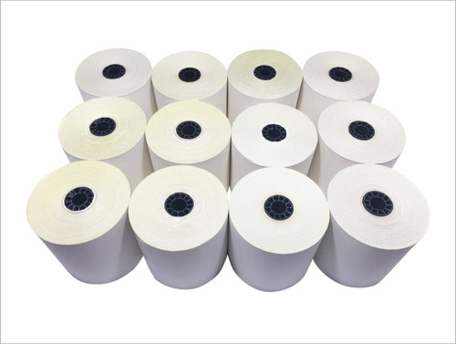 "2 ply Carbonless Paper Roll white/canary 3"" x 95' Star Kitchen Printer"