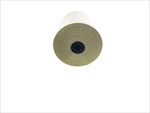 "2 ply Carbonless Paper Roll white/canary 3"" x 95' Kitchen Printer Paper"