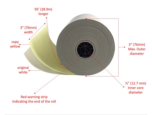 2 ply Carbonless Kitchen Order Copy Paper Star Kitchen Paper