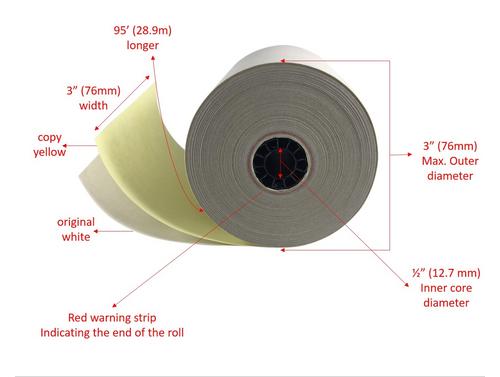 2 ply Carbonless Kitchen Order Copy Paper Star SP500 Kitchen Paper