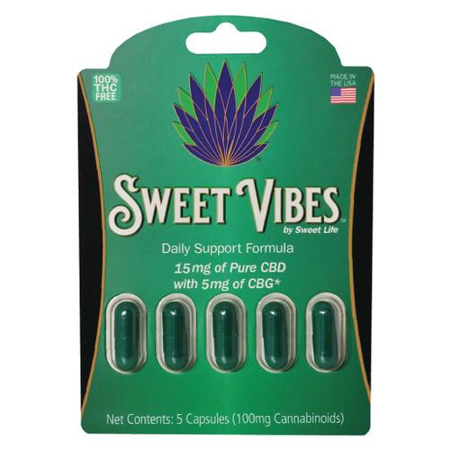Sweet Vibes CBD + CBG Capsules