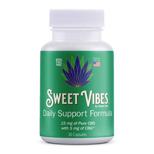 Sweet Vibes CBD capsules infused with CBD