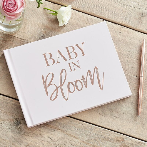 Rose Gold And Blush Baby Shower Guest Book