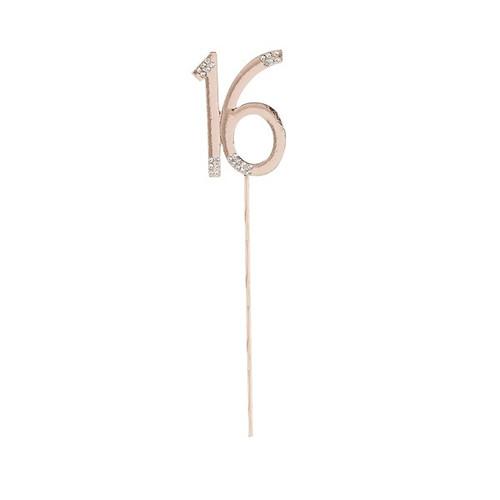 16' cake topper rose gold bling