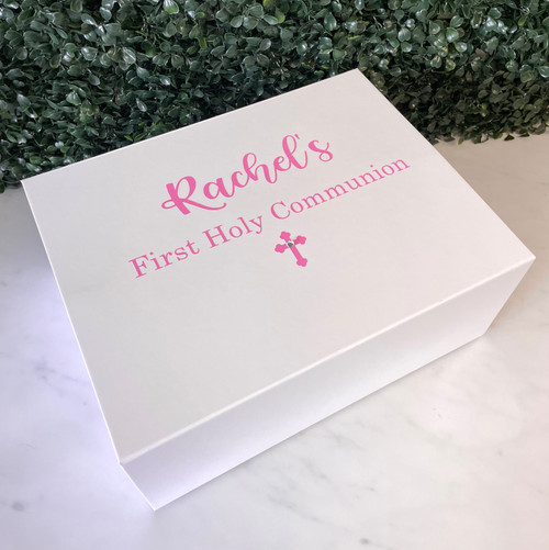 Personalised Communion Girl Memory Box with Picture Frame