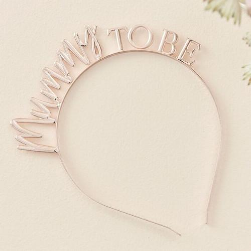 Rose Gold Metal Mummy To Be Baby Shower Headband