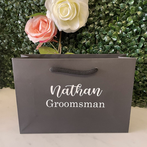 Personalised Bridal Bag -  Small Black