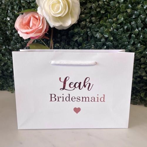 Personalised Bridal Bag -  Small White