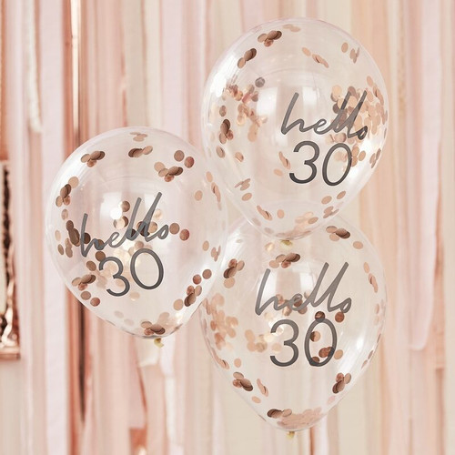 30th birthday confetti balloons