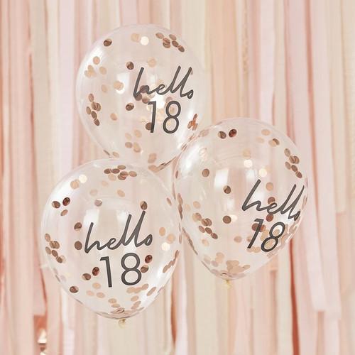 18th birthday confetti balloons