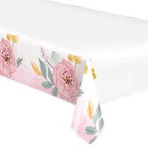painted floral tablecover