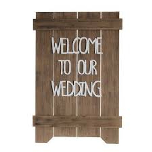 Welcome to our Wedding Sign, Rustic