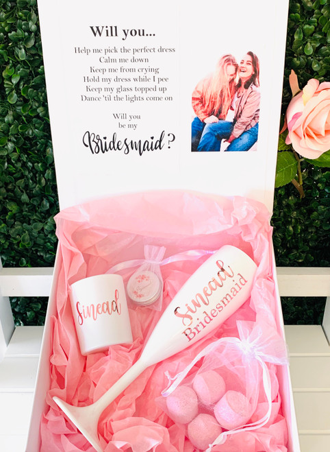 Bridal Party Picture Proposal Gift Set