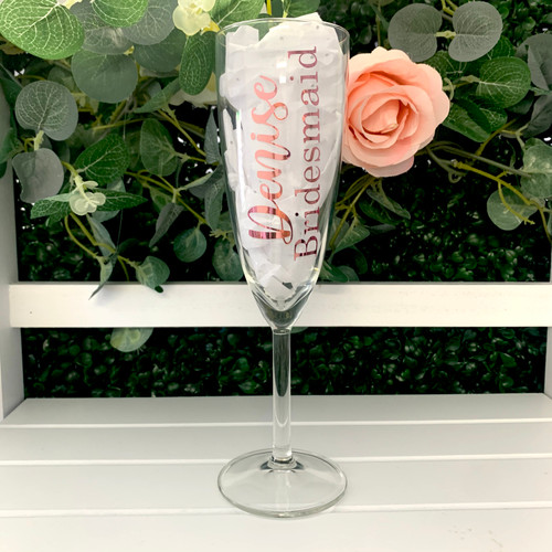 Personalised Bridal Champagne Glass