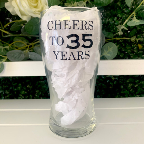 Personalised Any Wording Pint Glass