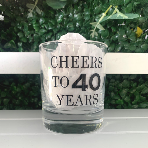 Personalised Any Wording Whiskey Glass