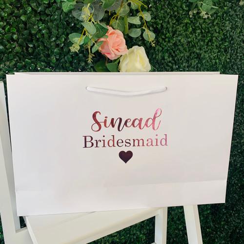 Personalised Bridal Bag -  Large White