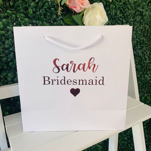 Personalised Bridal Bag - Medium White