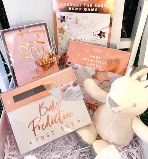 Luxurious Baby Shower Gift Set with Memory Box
