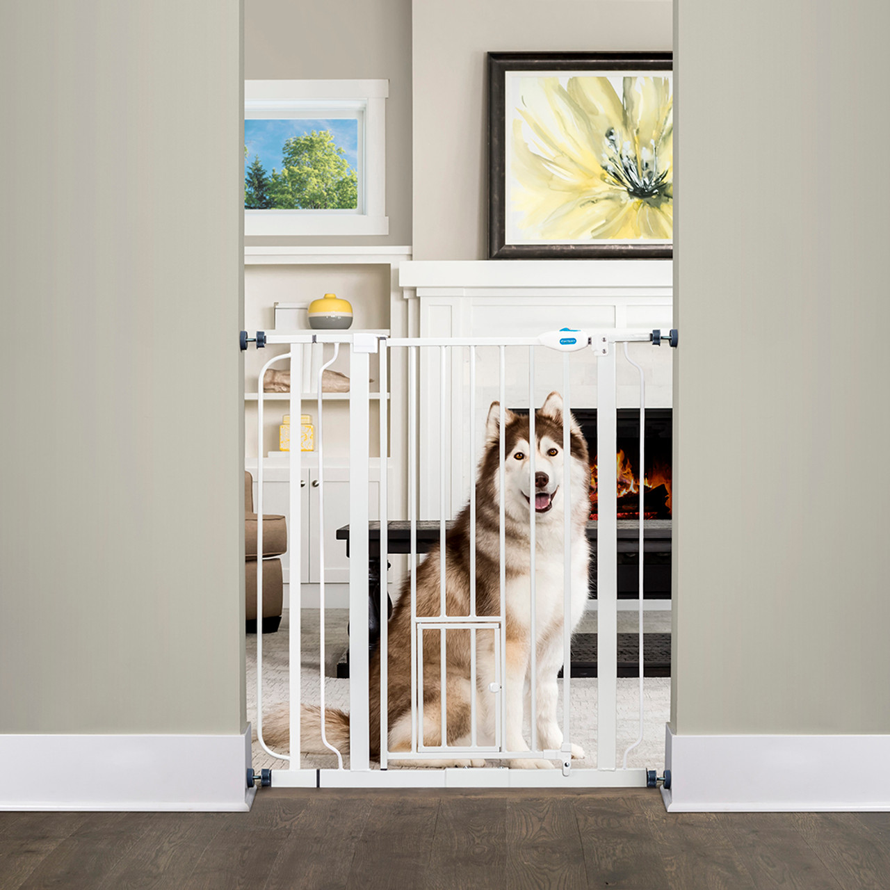 Extra Tall Baby Pet Dog Stair Child Safety Gate Double Lock High Safe Barrier