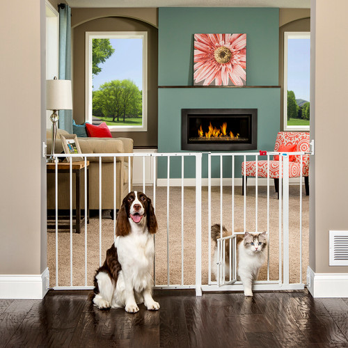 Design Paw Arched Flexi Pet Gate Carlson Pet