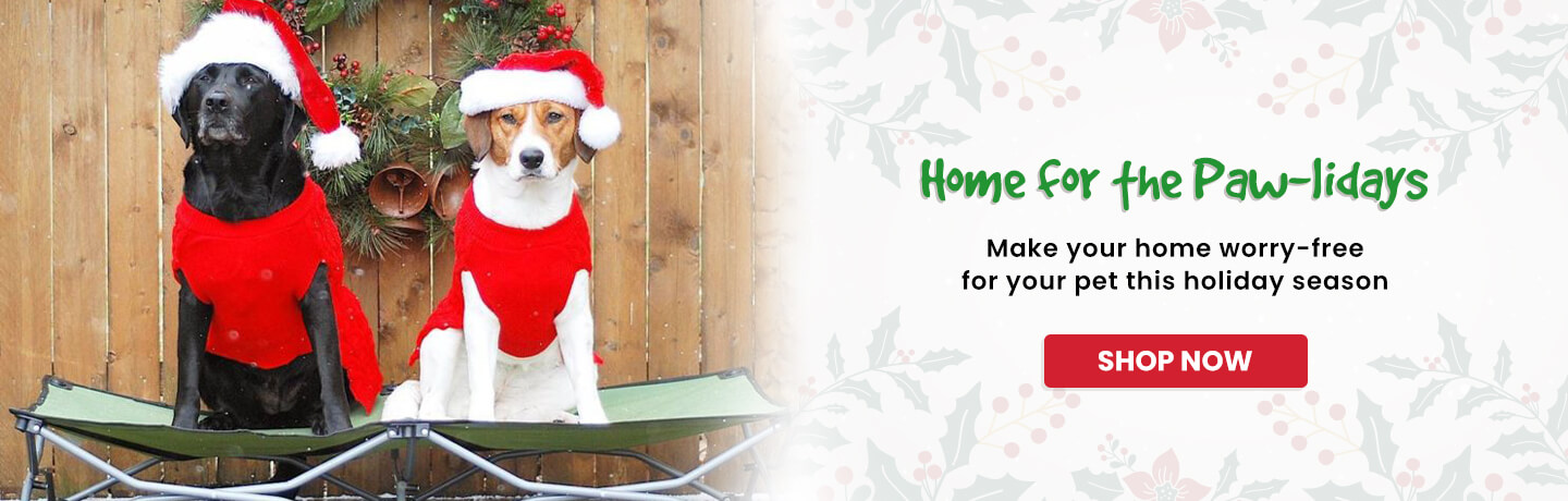 Home for the pawlidays - shop now!