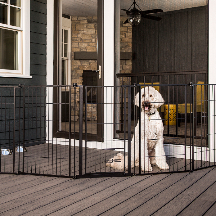 "144"" Outdoor Extra Tall Super Wide Pet Pen & Gate"