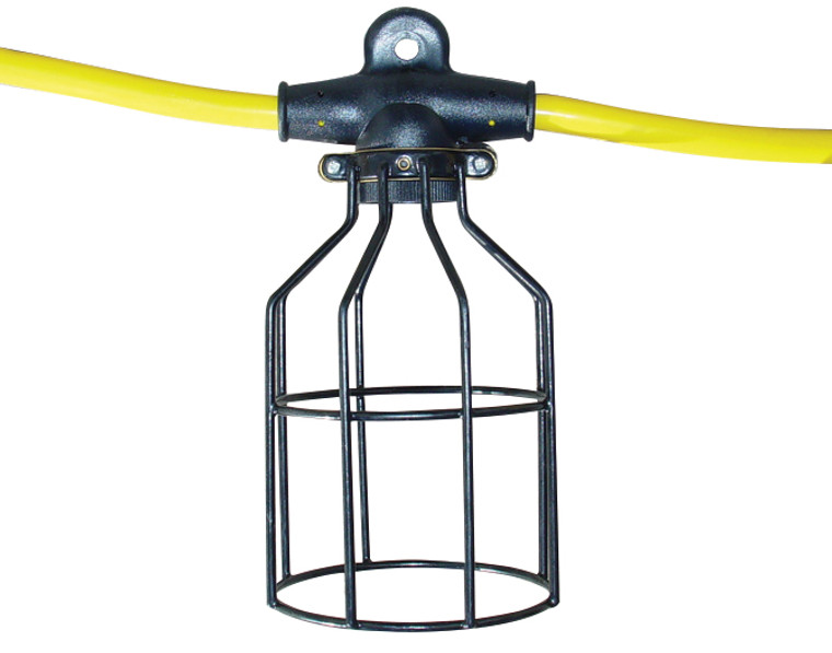 Southwire 07538 50 Ft. 12/3 Light String with Metal Cages