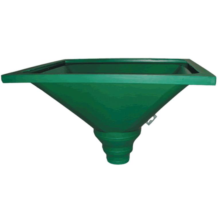 "Sika Greenstreak #484 36"" X 36"" X 6"", 8"", 12"" PVC Hopper"