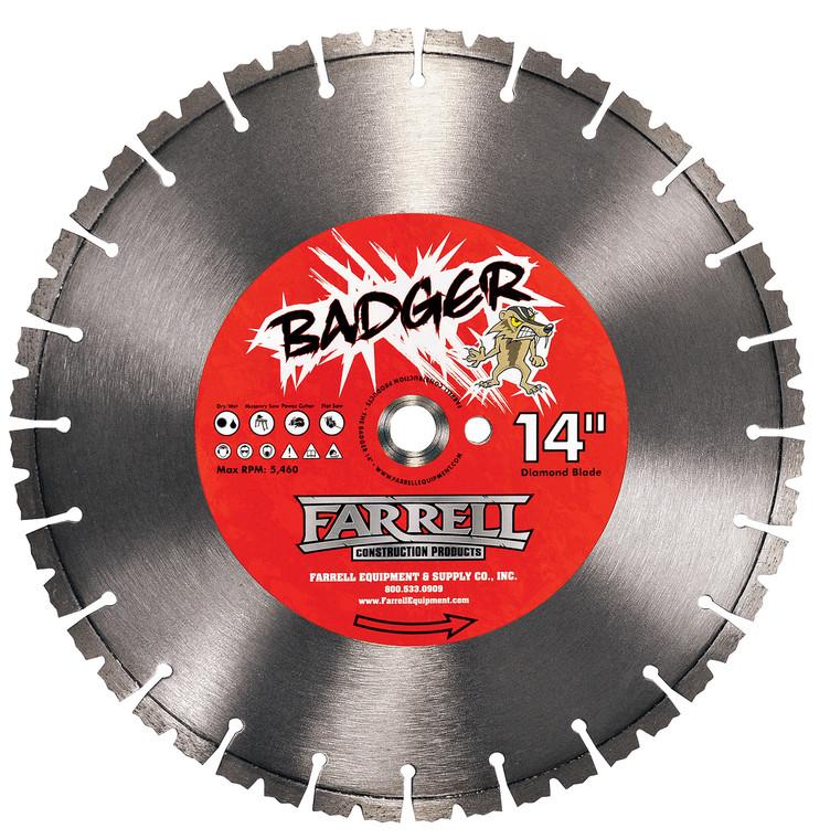 """Farrell Equipment 579860101 14"""" Badger Dry Diamond Blade"""