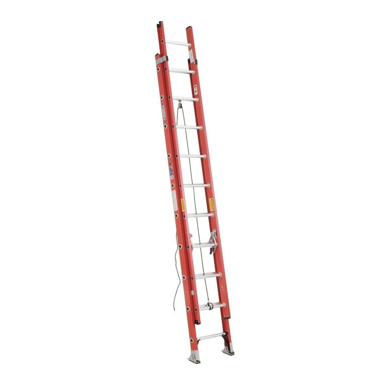 Werner #D6220-2 20 Ft. Fiberglass Extension Ladder Type 1A 300 Lbs.