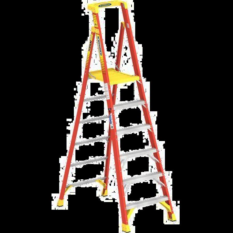 Werner #PD6206 6 Ft. Fiberglass Podium Ladder Type 1A 300 Lbs.