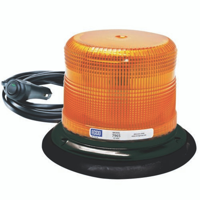 ECCO 7965A-VM 360 Degree Amber LED Beacon With Vacuum Mount