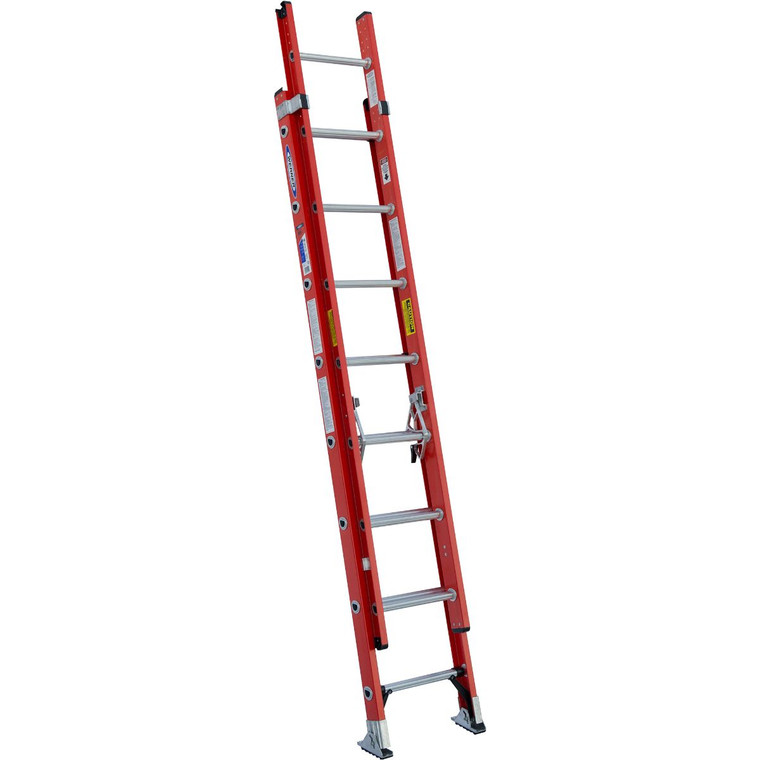 Werner #D6216-2 16' Fiberglass Extension Ladder Type 1A 300 Lbs.