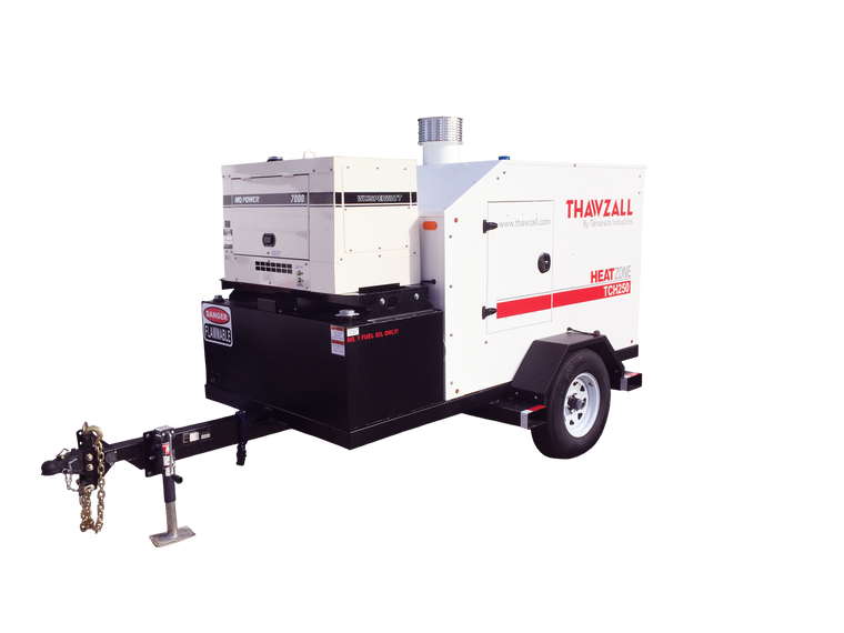 Thawzall TCH250 Glycol Ground Thawing And Concrete Curing System With Generator